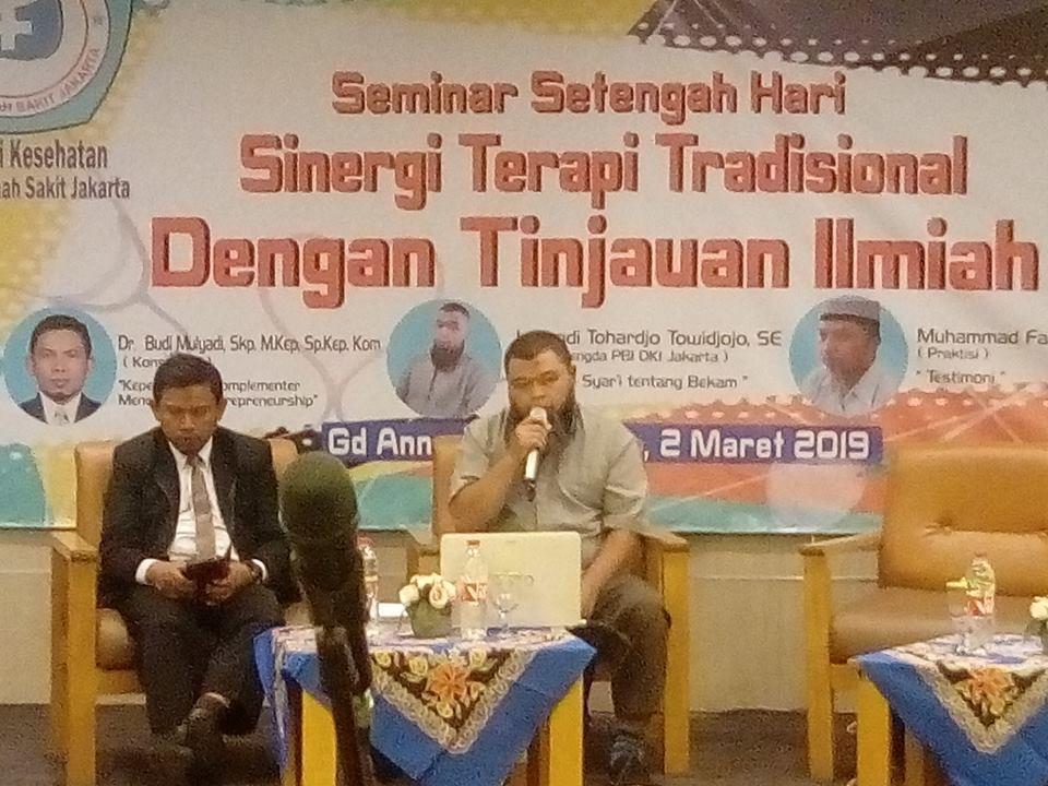 Seminar Sinergi Terapi Tradisional Dengan Tinjauan Ilmiah RS Jakarta dan PBI